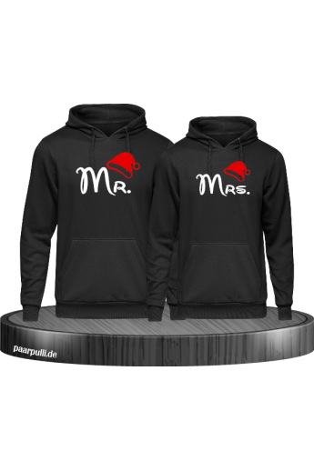 Mr. und Mrs. Partnerlook Hoodies in schwarz