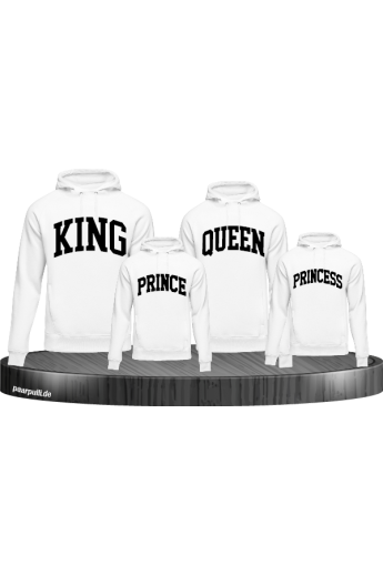 King Queen Prince Princess mit kurviger Form Familienlook Hoodies