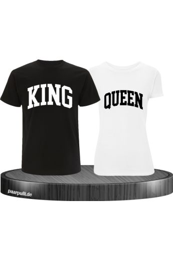 King und Queen mit kurviger Form Partnerlook T-Shirts