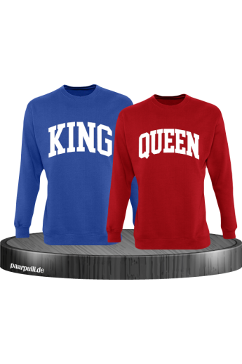 King und Queen mit kurviger Form Partnerlook Sweatshirts