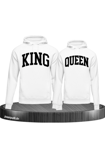 King und Queen mit kurviger Form Partnerlook Hoodies