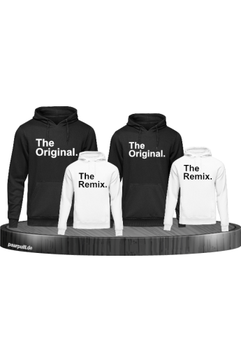 The Original and the Remix auf Hoodies weiss schwarz