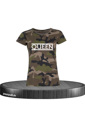 Queen Camouflage T-Shirt in...