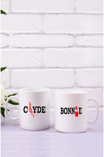 Bonnie and Clyde TASSEN im Set