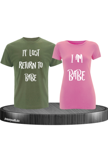 If lost return to babe t shirts in khaki rosa