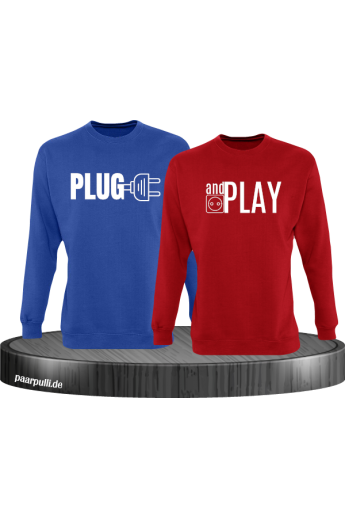 Plug and Play Sweatshirts in blau rot