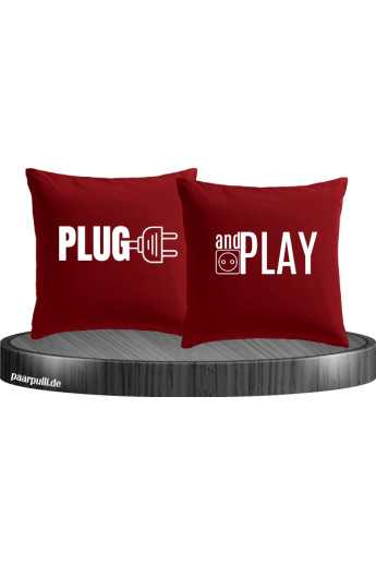 Plug and Play Kissen in rot