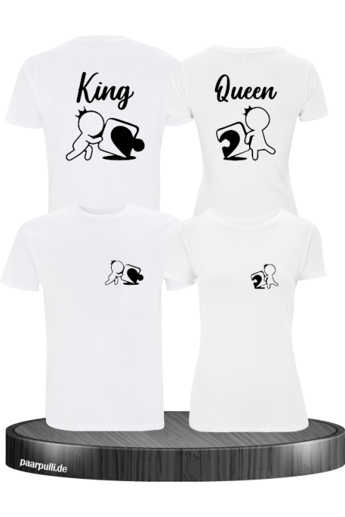 King Queen Puzzle Shirts in weiß