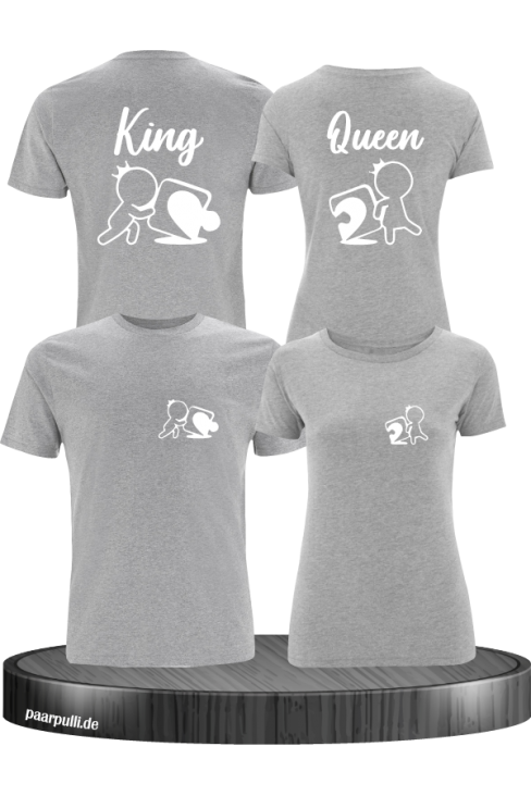 King Queen Puzzle Shirts in grau