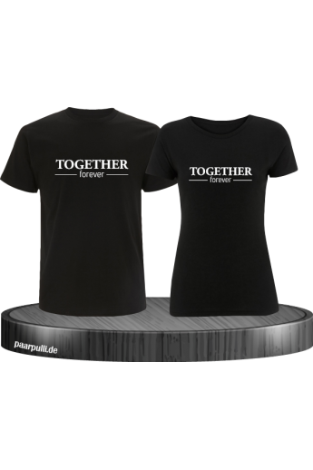 Together Forever Partnerlook T-Shirts in schwarz