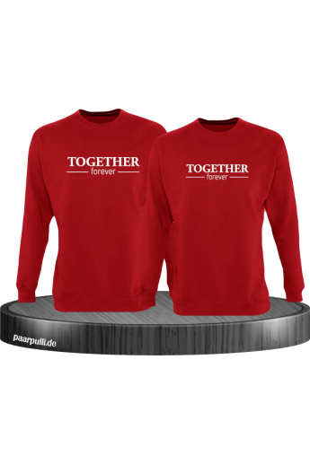 Together Forever Partnerlook Sweatshirts in rot