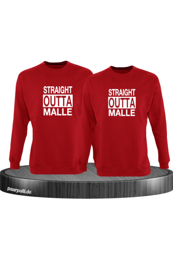Straight Outta Malle Pullover rot