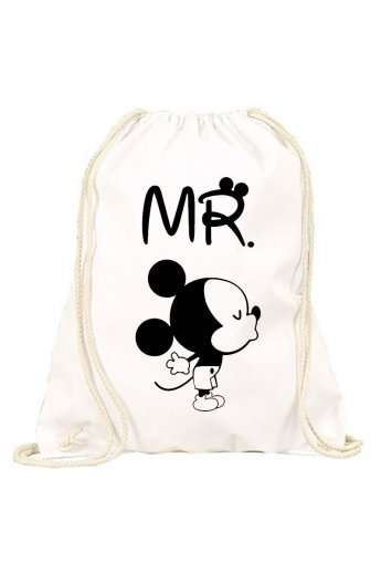 Turnbeutel im Minnie&Mickey Design Mr & Mrs